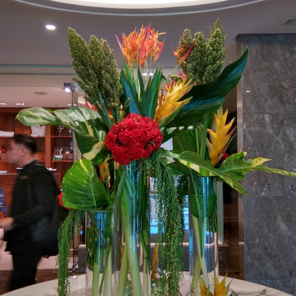 Tropical Paradise | Weekly Instalation | Center Piece for Ritz Carlton Pacific Place Hotel by Gria Florist