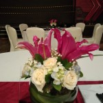 Round Table Floral Arrangement - CIMB Niaga Corporate Event at Four Seasons Hotel Jakarta by Gria Florist