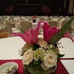 Detail View - Round Table Floral Arrangement - CIMB Niaga Corporate Event at Four Seasons Hotel Jakarta by Gria Florist