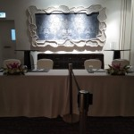 Registration Desk Floral Table Arrangement - CIMB Niaga Corporate Event at Four Seasons Hotel Jakarta by Gria Florist