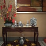 Side Table Decor: Chinese New Year 2020 Celebration at One Pacific Place Office Lobby - by Gria Florist.