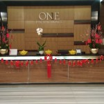 Receptionist Table: Chinese New Year 2020 Celebration at One Pacific Place Office Lobby - by Gria Florist.
