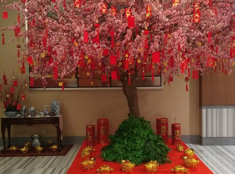 Front Look: Chinese New Year 2020 Celebration at One Pacific Place Office Lobby - by Gria Florist.