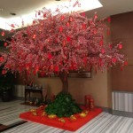 Three Quarter Right View: Chinese New Year 2020 Celebration at One Pacific Place Office Lobby - by Gria Florist.