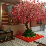 Three Quarter Left View: Chinese New Year 2020 Celebration at One Pacific Place Office Lobby - by Gria Florist.